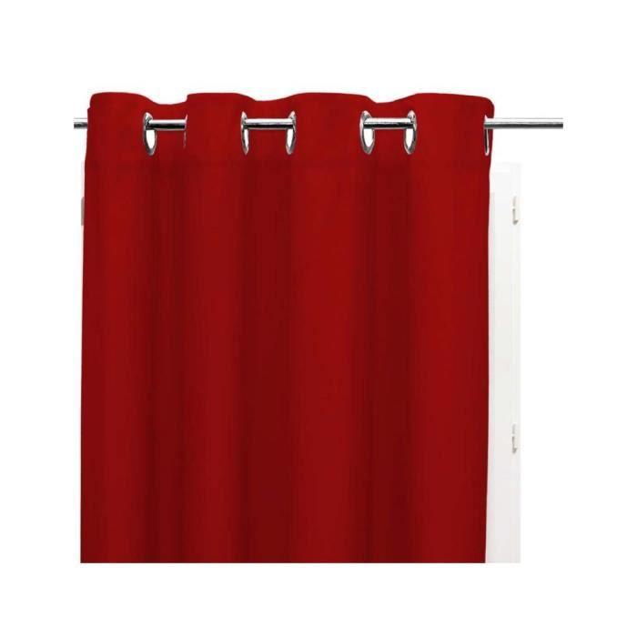 SOLEIL D'OCRE Rideau occultant à oeillets 140x180 cm rouge