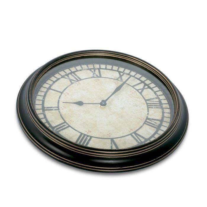 THUMBSUP! Horloge Vintage Inversée - Noir / Beige