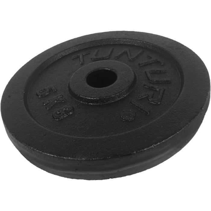 TUNTURI Disque musculation 5kg noir, unité