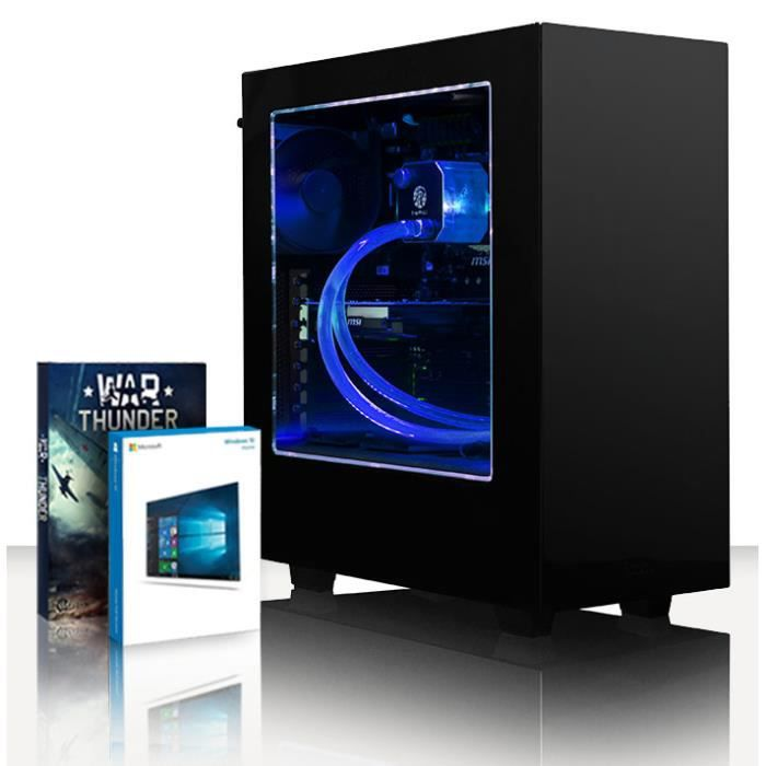 Vibox Accelerator 59 Pc Gamer Ordinateur avec War Thunder Jeu Bundle, Windows 10 Os (4,7Ghz Intel i7 6 Core Coffee Lake Processeur,