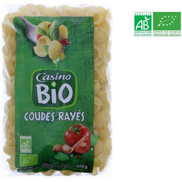 Coudes rayés bio - 500 g