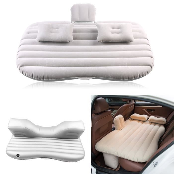 pvc matelas gonflable pour voiture argent gris achat. Black Bedroom Furniture Sets. Home Design Ideas