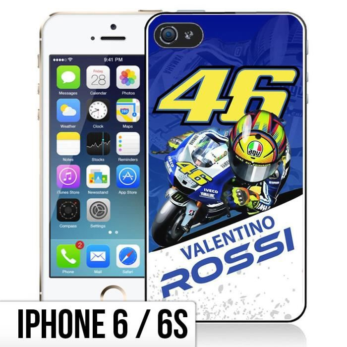 coque iphone 6 6s valentino rossi cartoon achat coque. Black Bedroom Furniture Sets. Home Design Ideas