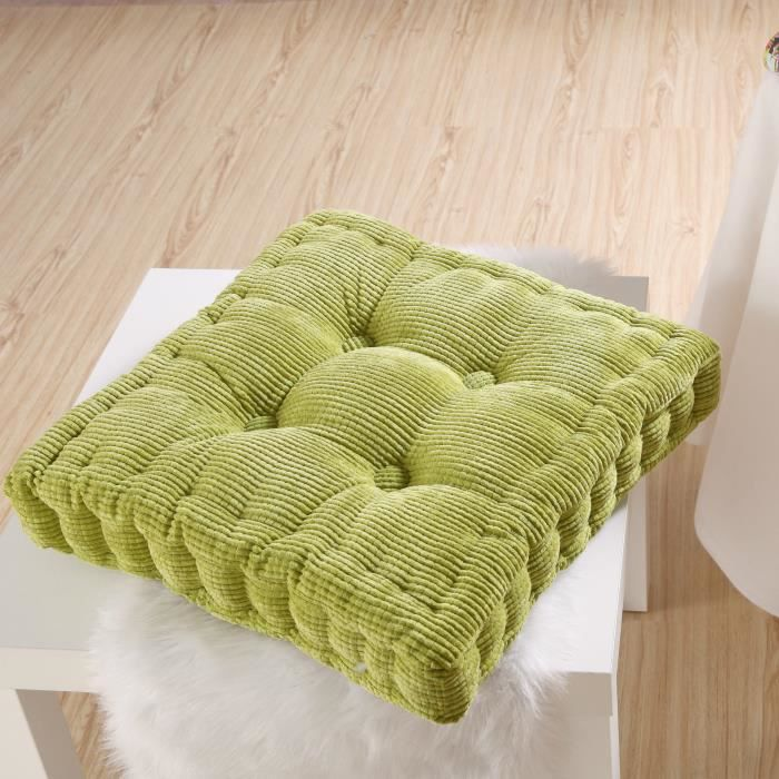 vert coussin de sol garni 40cm x 40cm d 39 oreiller cushion cover canap achat vente coussin de. Black Bedroom Furniture Sets. Home Design Ideas