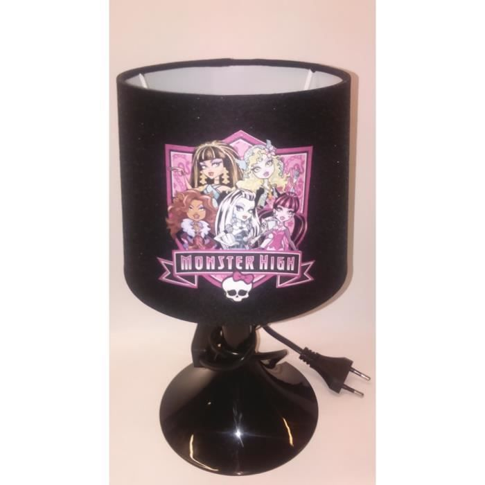 Kikoucoeur lampe de chevet enfant monster high noir for Lampe de chevet tactile enfant
