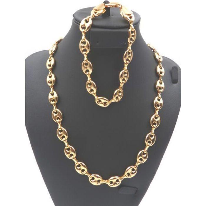 parure collier bracelet homme