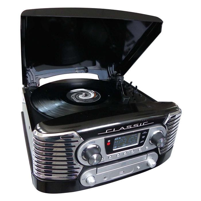 tourne disques radio usb cd mp3 td80nm platine cd prix pas cher cdiscount. Black Bedroom Furniture Sets. Home Design Ideas