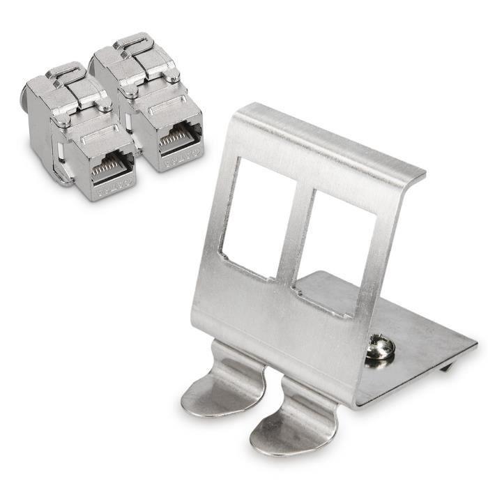 kwmobile 12x Module Keystone Cat/égorie 6A 12 Modules de Brassage pour Branchement C/âble RJ45 Raccord Blind/é Connexion /à Panneau de Brassage