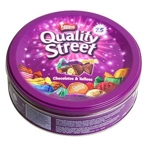 CONFISERIE DE CHOCOLAT Quality Street Original Metal Box (lot de 2)