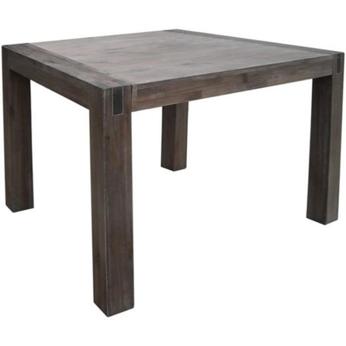 Table carr e en acacia massif 130x130 cm stacey achat for What is table in html