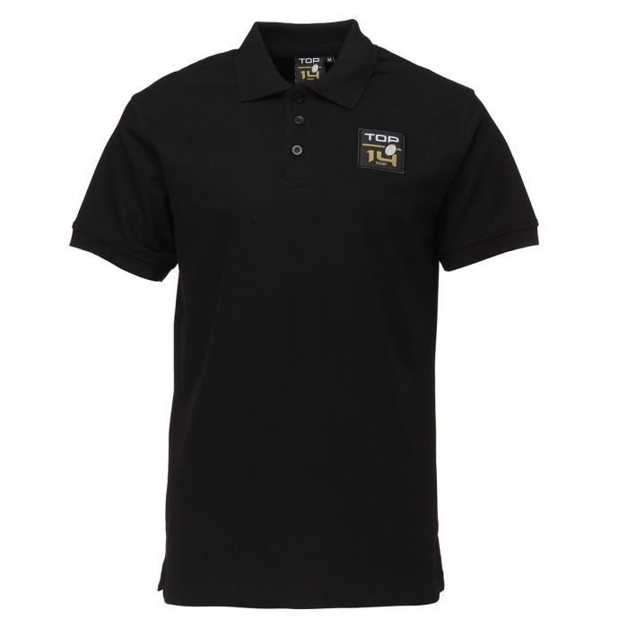 Maillot de Rugby Adulte - Polo Rugby Top - Noir