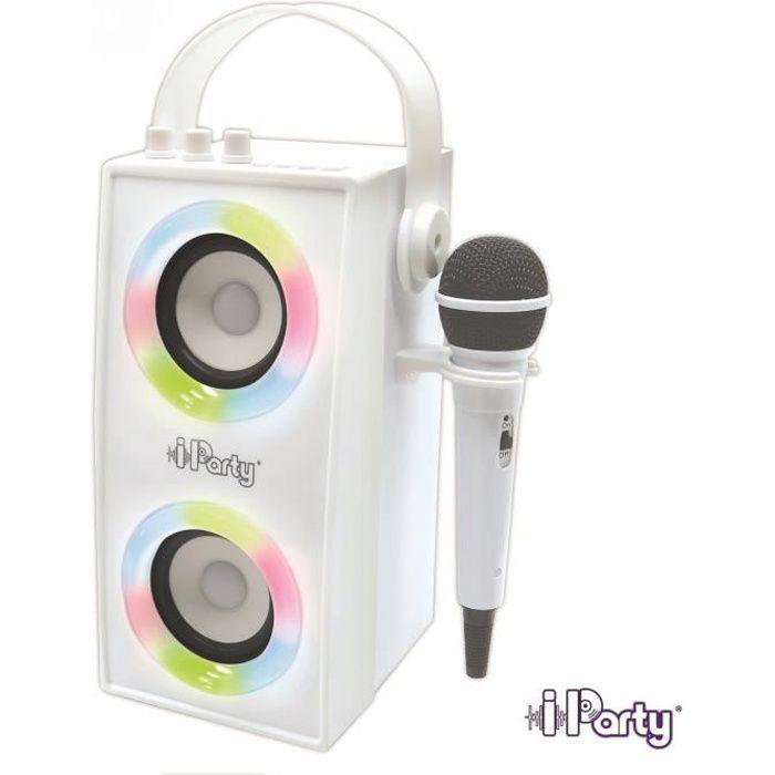 Enceinte Tendance Bluetooth® portable avec micro et effets lumineux iParty® LEXIBOOK