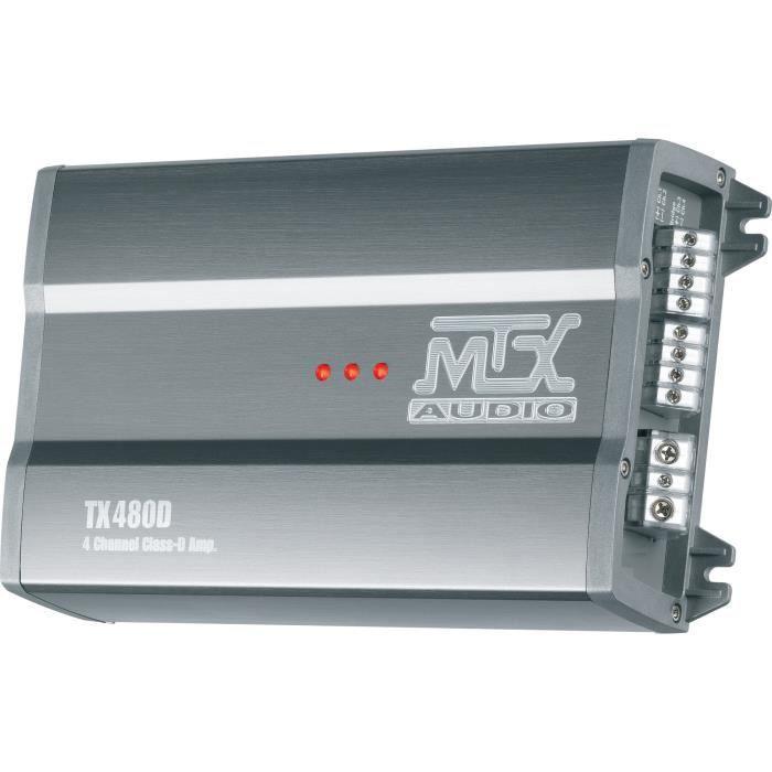 AMPLIFICATEUR AUTO MTX TX480D Amplificateur 12V 4 Canaux Classe-D 4x8