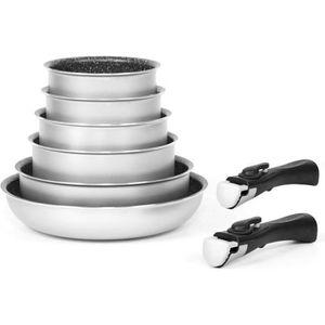 BATTERIE DE CUISINE ARTHUR MARTIN Batterie de cuisine amovible 8 pièce