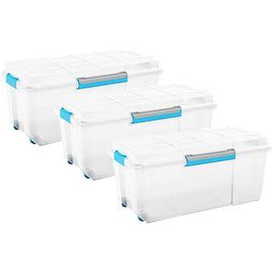 Russel Moyen Blanc Boîte de Rangement Pliable Tissu Organisateur Récipient
