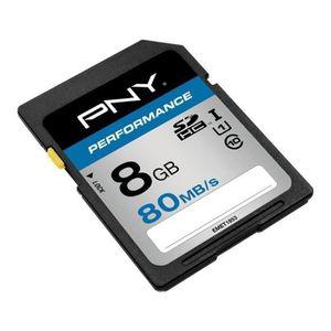 CARTE MÉMOIRE PNY Performance Carte mémoire SDHC 8 Go Classe 10