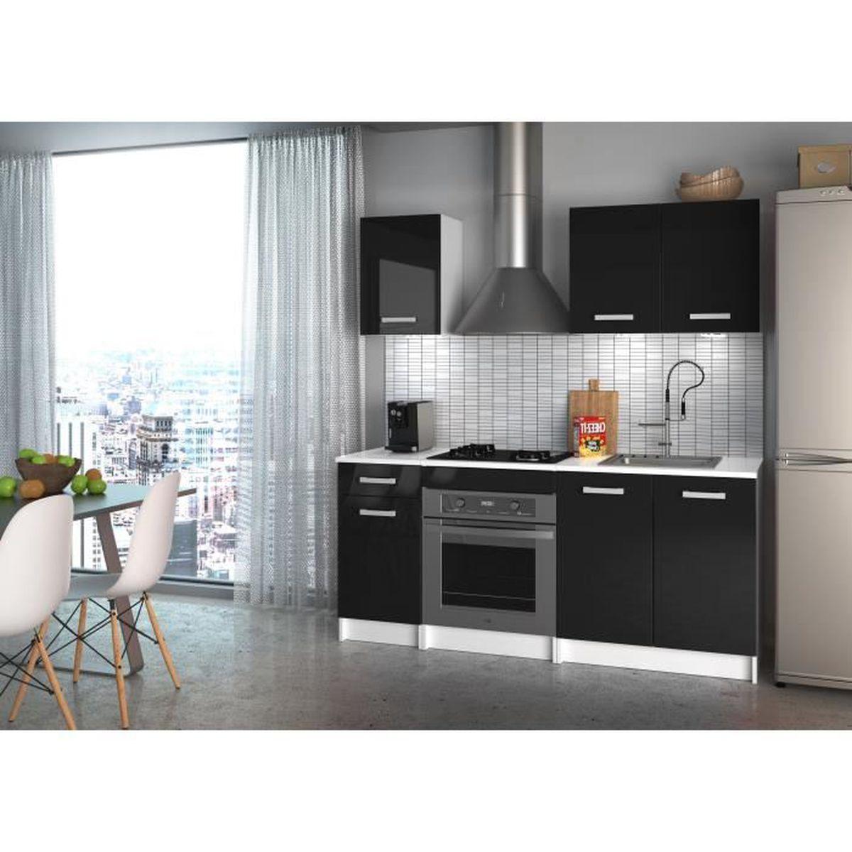 Meuble Cuisine Noir Pas Cher start meuble de cuisine noir complete - achat / vente pas cher