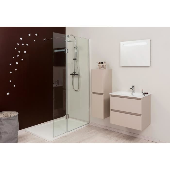 aqua paroi de douche italienne 2 volets 6 mm 80 40cm achat vente porte de douche paroi. Black Bedroom Furniture Sets. Home Design Ideas