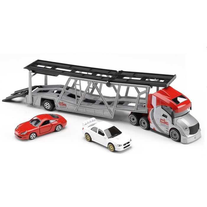 majorette grand camion de transport de voiture achat. Black Bedroom Furniture Sets. Home Design Ideas