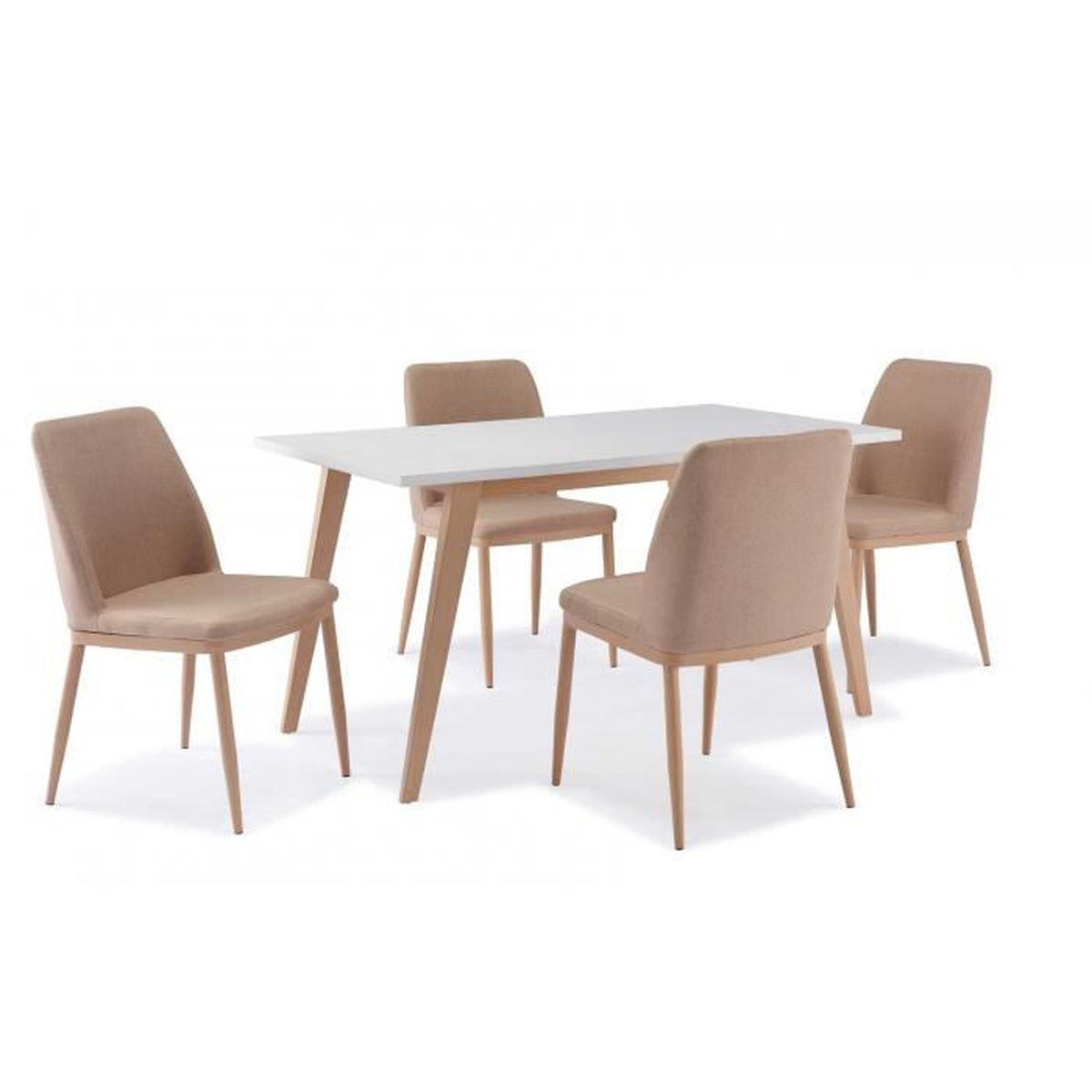 table scandinave 4 chaises confortable achat vente table a manger complet table scandinave. Black Bedroom Furniture Sets. Home Design Ideas