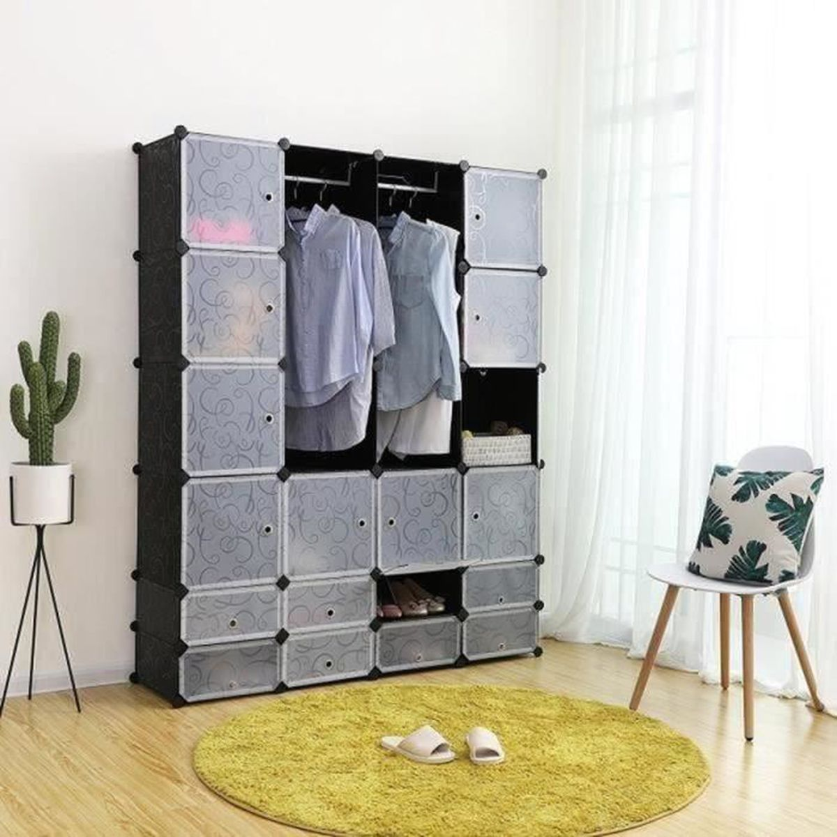 no l armoire modulable lit et armoires. Black Bedroom Furniture Sets. Home Design Ideas