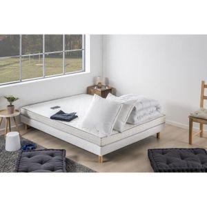 Pack prêt à dormir TOP Matelas 140x190 cm + Sommier + Couette + 2 oreillers 60x60 cm -  14 cm