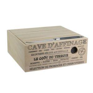 CAISSE ALIMENTAIRE Lot de 2 Caves D'affinage à Fromage et couteaux