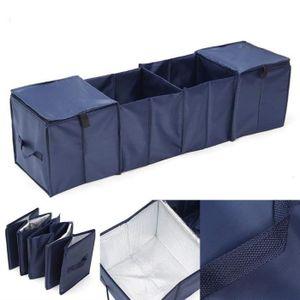 Sac de rangement pour marchandise Medifier Oxford Tissu polyvalent pliable Noir Sac de rangement solide pour coffre de voiture pour camping et vacances