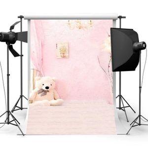 FOND DE STUDIO Toile de Fond Backdrop Tissu 90×150cm Planche Rose