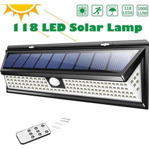 LAMPE DE JARDIN  Juce 118 LED Lampe Solaire Extérieur Etanche Solai