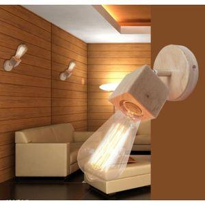 Applique Mural en Bois Moderne Applique Mural Luminaire Simple pour Chambre  Salon