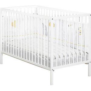 LIT BÉBÉ BABY PRICE - lit 120x60 tout barreaux blanc first