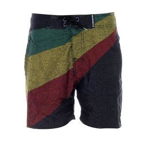MAILLOT DE BAIN FREEGUN - Boardshort Long Noir Couleurs Jamaïque p