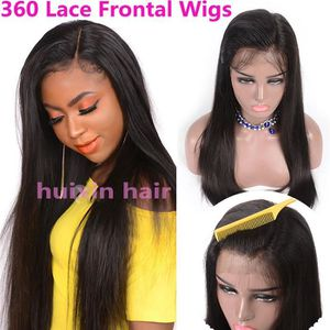 PERRUQUE - POSTICHE 360 Lace Frontal Wigs Perruques Cheveux Humains li