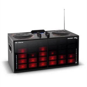 RADIO CD CASSETTE Enceinte portable 200W table de mixage LEDs rouge