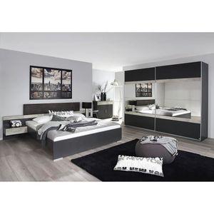 Chambre adulte contemporaine grise Penny-180 x 200 cm Gris ...