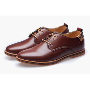 DERBY chaussures en cuir Business Homme Marron