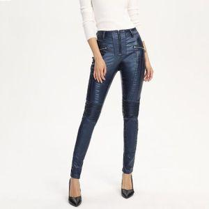 PANTALON Pantalon Femme Sexy Skinny Simili Cuir Plus Velour