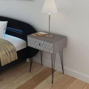 ARMOIRE DE CHAMBRE Table de chevet Table de Nuit avec 1 tiroir rectan