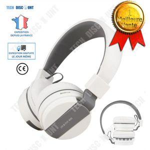 CASQUE AVEC MICROPHONE TD® casque bluetooth réduction de bruit sans fil s