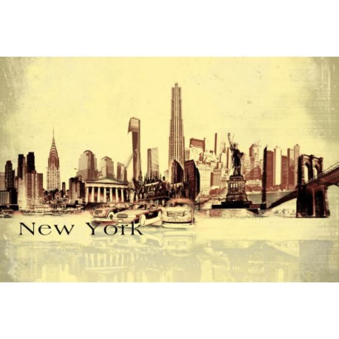 New york papier peint photo poster autocollant achat for Decoration murale geante new york