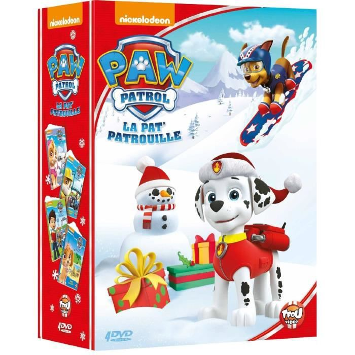 dvd paw patrol la pat 39 patrouille le coffret 4 dvd une nouvelle amie bienvenue ruben. Black Bedroom Furniture Sets. Home Design Ideas