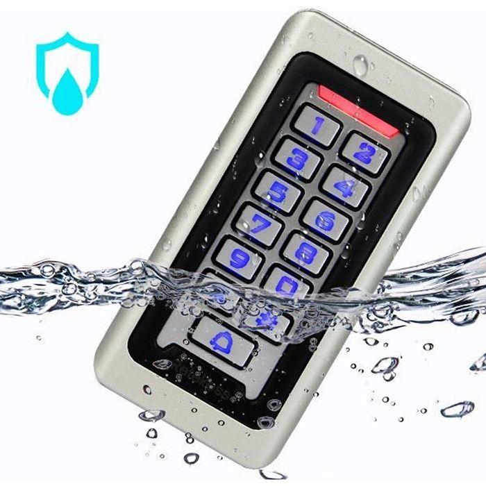 RETEKESS Digicode Clavier Code IP68 Étanche Contrôle d'accès Bouton PIN RFID Carte de 125KHz Clavier Rétro-éclairé pour Maison