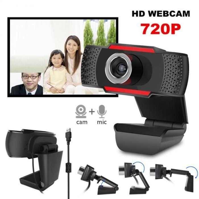 PC Full HD 720P Webcam caméra Web Cam avec Microphone intégré pour ordinateur de bureau pour Windows 7 8 10 Vista appel vidéo USB