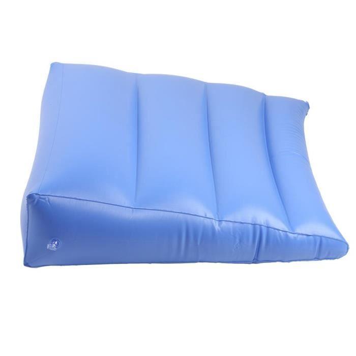 AIZ Coussin arrière gonflable multifonction anti coussin d'escarres triangulaire pour les soins de santé (bleu)