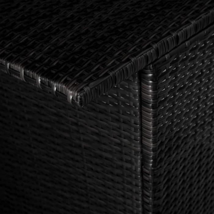 Ensembles de meubles d'exterieur vidaXL Jeu de bar d'exterieur 5 pcs Resine tressee Noir et blanc creme