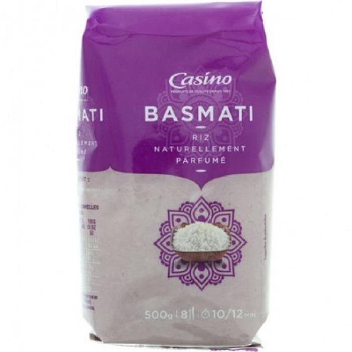 AGROVER SRL Riz naturellement parfumé Basmati - 500G