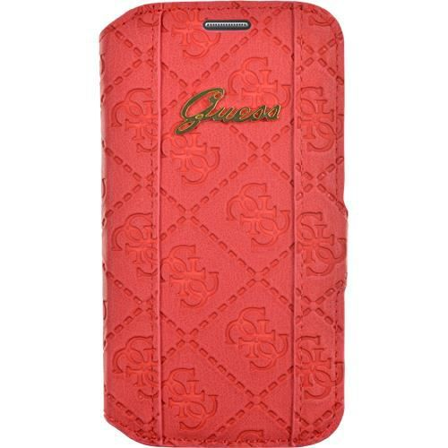 GUESS Etui folio pour Samsung Galaxy Ace 4 - Rouge