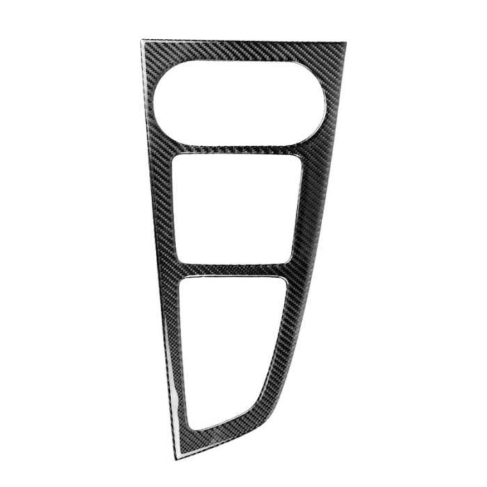 1 PC voiture automobile en Fiber de carbone Durable décoratif panneau de changement de BEQUILLE CENTRALE - BEQUILLE LATERALE