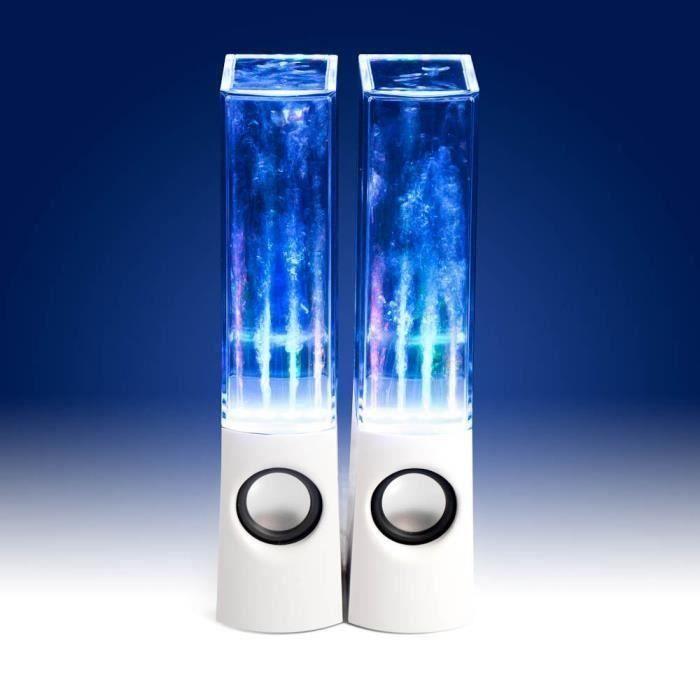 KIN ENCEINTE A JET D'EAU SPEAKER BLUETOOTH MP3 USB PORTABLE ECLAIRAGE LED
